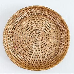 Boho woven plate basket basket wall decor